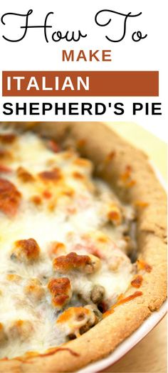 This Italian Shepherd's pie is a delicious switch from the traditional version. Easy Delicious Recipes, Easy Healthy Dinners, Tasty, Yummy Food, Pie Recipes, Clean Eating, Thanksgiving, Stuffed Peppers, Holidays