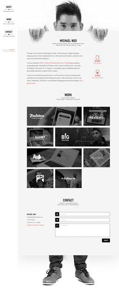 Portfolio of Michael Ngo - Front-End Developer and UX designer - www. - My best design list Graphisches Design, Web Design Tips, Flat Design, Logo Design, Design Process, Cv Inspiration, Webdesign Inspiration, Creative Inspiration, Portfolio Website Design