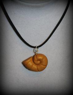 Little Mermaid Ursula's Golden Shell Polymer Clay Charm Necklace | BrulezRulez - Jewelry on ArtFire