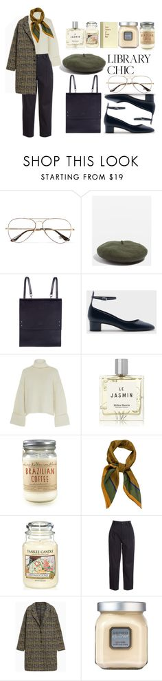 """""""library chic"""" by thegoodmansdaughter ❤ liked on Polyvore featuring Ray-Ban, Topshop, Under My Roof, CHARLES & KEITH, Amanda Wakeley, Miller Harris, Yves Saint Laurent, Yankee Candle, RED Valentino and Max&Co."""
