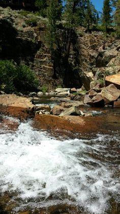 Waterfall at Fallen Leaf Lake in South Lake Tahoe