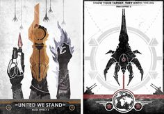 Vintage Mass Effect 3 Posters