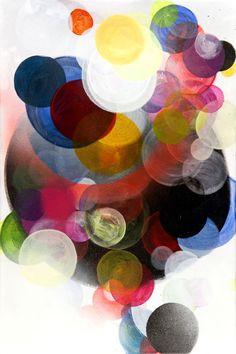 """""""Circles#3""""   painting by Paula Baader"""