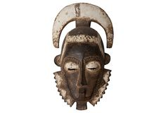 Baule Tribal Mask  from Cote d'Ivorie