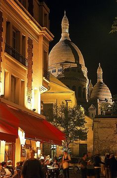 Montmartre in the background. Paris...
