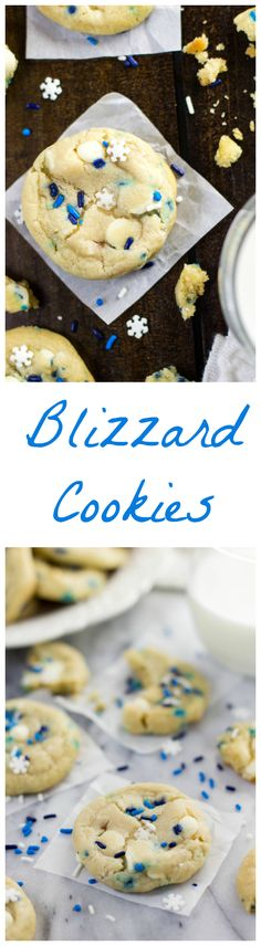 Frugal Food Items - How To Prepare Dinner And Luxuriate In Delightful Meals Without Having Shelling Out A Fortune Blizzard Cookies - Funfetti Cookies Made With Cream Cheese And Butter Cookie Desserts, Holiday Desserts, Holiday Baking, Christmas Baking, Just Desserts, Holiday Recipes, Delicious Desserts, Yummy Treats, Sweet Treats