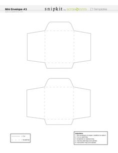 Mini Envelope Template | Flickr - Photo Sharing! | Christmas ...