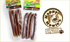 If you've been looking for a treat for your pup that's both delicious and nutritious, look no further. With this deal you get two 4-packs of Happy Howie's sausages--one pack in beef and one in turkey. These treats are easily breakable and great for training dogs of all sizes. The sausages are made of real meat, wholesome grain, and natural preservatives. Your dog will drool once he takes the first whiff and will beg for more after the first bite! $9