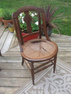How To Upholster cane bottom chair & How to remove a broken cane seat and create a new upholstered seat ...