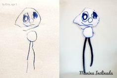 Menina Inclinada makes custom toys from children's drawings!
