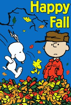 Image result for snoopy happy fall