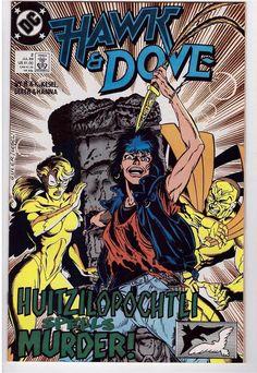 Hawk And Dove #2 July 1989 DC Comic Book Possessions Huitzilopochtli Murder