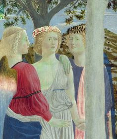 National Gallery: Piero della Francesca is one of the most admired Italian painters. Michael Gabriel, Baptism Of Christ, Cool Color Palette, National Gallery, Italian Painters, 15th Century, Illuminated Manuscript, Cherub, Art Gallery