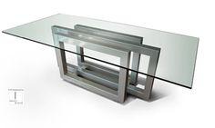 REBECCA - Mesa moderna (tablero de vidrio): Comedor de estilo de GONZALO DE SALAS