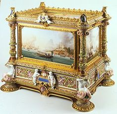 Sévres porcelain and bronze of Princess of Joinville box