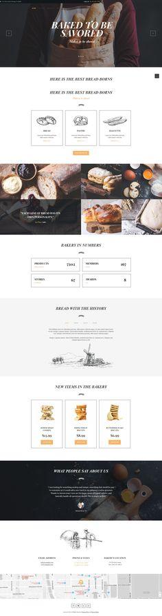 #Bakery, #Cafe & #Pastry #WordPress theme