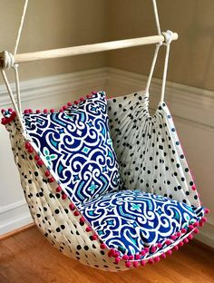 Hammock Chair Swing Hammock Chair, Hanging Chair, Sensory Play, Children's Nursery Swing- Reading Chair - for Kids and Adults! Diy Hammock, Hammock Swing Chair, Swinging Chair, Hammocks, Hanging Hammock, Chaise Diy, Home Selling Tips, Creative Colour, Album Design