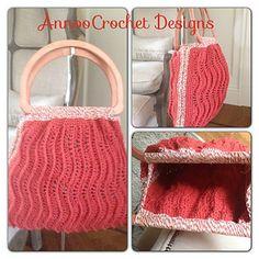 Crochet-Ridged Ripples Handbag
