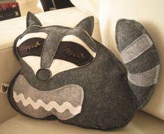raccoon pillow