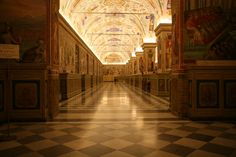 The Vatican Apostolic Library, inside the Vatican Palace, dates back to the 15th century.