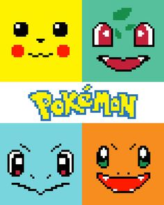 Pokemon Characters (Pikachu, Bulbasaur, Charmander, Squirtle) is a graph pattern that can be used for: - Crochet: C2C, single or Tunisian Simple Stitch - Knitting - Cross stitch - Latch hook - other crafts that use a graph. This listing is for a digital pattern only. Size: 80 squares