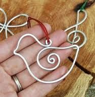 wire christmas ornament - Google Search