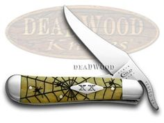 ca6085ws  CASE XX Antique Bone Woodland Spider Russlock 500 made Pocket Knife  6085WS