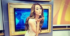 Stunning Yanet Garcia, 26, was wearing nothing but a red one piece as she takes the audience on a tour of her home