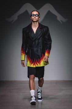 Sanchez-Kane New York Fashion Week Men's Spring Summer 2018 - Sagaboi - Look 2
