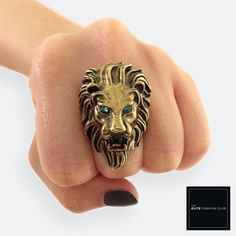 TEFC 3D Lion Head Gem Ring | Use this exclusive code: PINTEREST05 for 5% off all fashion products @ theelitefashionclub.storenvy.com