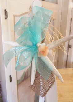 Starfish Wedding Bow'sBeach Wedding Starfish Pew Bow's by 3Mimis, $125.00