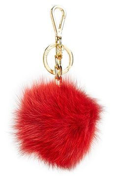 The black one is soooooo pretty!!!  MICHAEL Michael Kors Genuine Fox Fur Bag Charm available at #Nordstrom