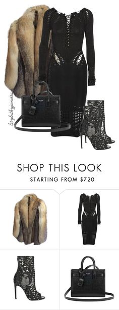 """Untitled #27"" by styledbyjanetta on Polyvore featuring Anne Klein, Cushnie Et Ochs, Balmain and Yves Saint Laurent"