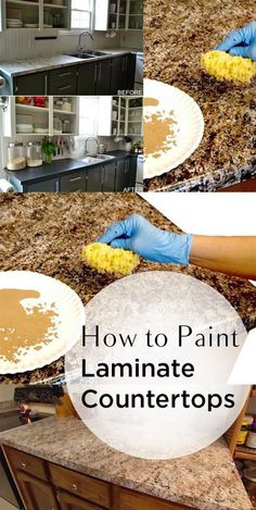 Laminate countertops how to paint countertops laminate counters popular pin painting hacks home improvement home upgrades home DIY easy home DIY DIY weekend projects - March 09 2019 at Painting Laminate Countertops, Diy Countertops, Countertop Redo, Spray Paint Countertops, Laminate Worktops, Painting Cabinets, Home Upgrades, Cheap Home Decor, Diy Home Decor