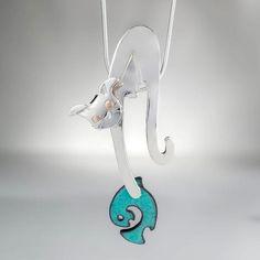 Cat Earrings, Dog Pendants and Horse Cufflinks Handmade in Silver Horse Jewelry, Cat Jewelry, Animal Jewelry, Photo Jewelry, Jewelry Crafts, Handmade Jewelry, Jewellery, Cat Necklace, Silver Chain Necklace