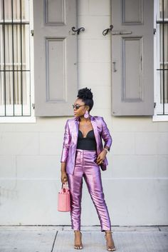 1f57fd3e6c2 Metallic suit for Fall and beyond