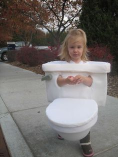 A Toilet   Community Post: 30 Best DIY Kids Halloween Costumes Your Mom Never Made For You
