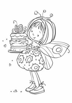 Fairy Coloring Pages, Adult Coloring Pages, Coloring Books, Whimsy Stamps, Digital Stamps, Colorful Pictures, Embroidery Patterns, Illustration, Sketches
