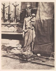 Auguste Mestral (French, 1812–1884). [Sculpture of Virgin and Child, Notre Dame, Paris], ca. 1851. The Metropolitan Museum of Art, New York. Purchase, The Horace W. Goldsmith Foundation Gift, through Joyce and Robert Menschel, 2000 (2000.290)