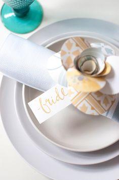 Laura Ashley Blog | A HANDMADE TOUCH: DIY WEDDING PLACE SETTINGS | http://blog.lauraashley.com