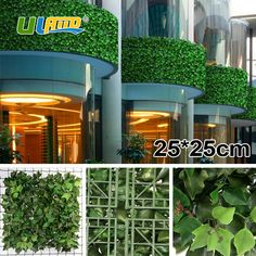 ULAND Fake Ivy Vines for Fence 48 pcs 25x25cm Plastic Artificial Outdoor Privacy Hedges DIY Garden Ornaments  G0602A005B