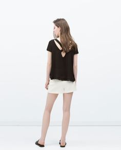 ZARA - WOMAN - TOP WITH EMBROIDERED HEM