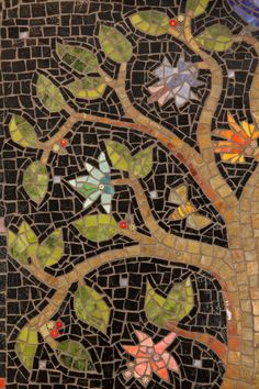 Mosaic tree (detail)