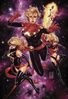 Secret Wars #5 (exclusive for Midtown Comics) - Carol Danvers by Mark Brooks
