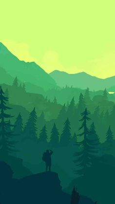 iPhone wallpaper from Firewatch.