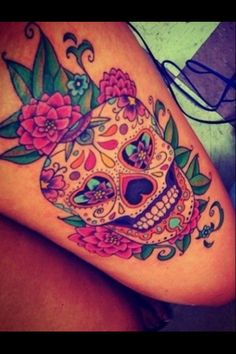Sugar skull... I am in love with this one... love to have the guts to get a tatto like this