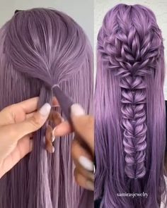 How to made the butterfly looking elastic braids - Frisur Ideen Easy Hairstyles For Long Hair, Pretty Hairstyles, Cute Hairstyles, Wedding Hairstyles, Hairstyles Videos, Mermaid Hairstyles, Beach Hairstyles, Braided Hairstyles Tutorials, Holiday Hairstyles