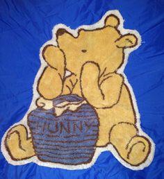 "Rare vintage Classic Winnie The Pooh Nursery Rug 28""x 25"" in Baby, Nursery Décor, Mats & Rugs | eBay"