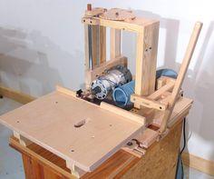 Langlochbohrmaschine selbst gebaut