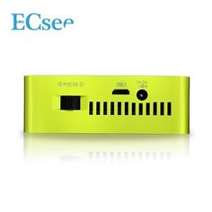 ECsee ES130 Mini DLP Projector HDMI White Green Portable Home Theater Multimedia Beamer 1080P Sale - Banggood.com